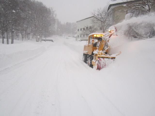 市道除雪・ロータリー除雪作業