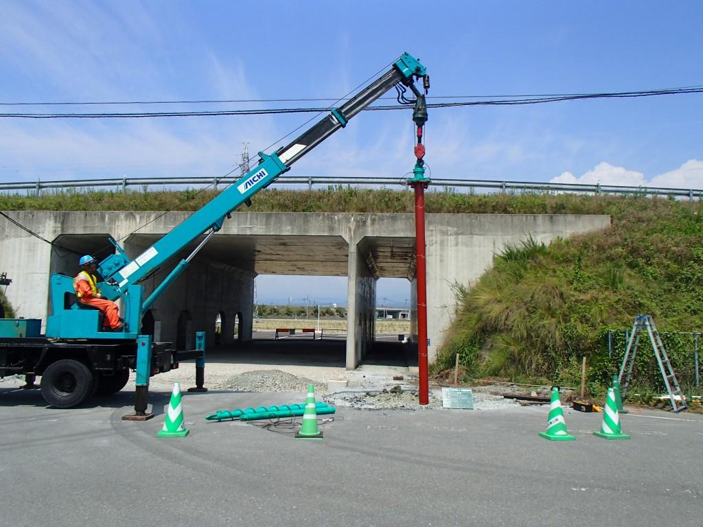 鋼管杭設置工事