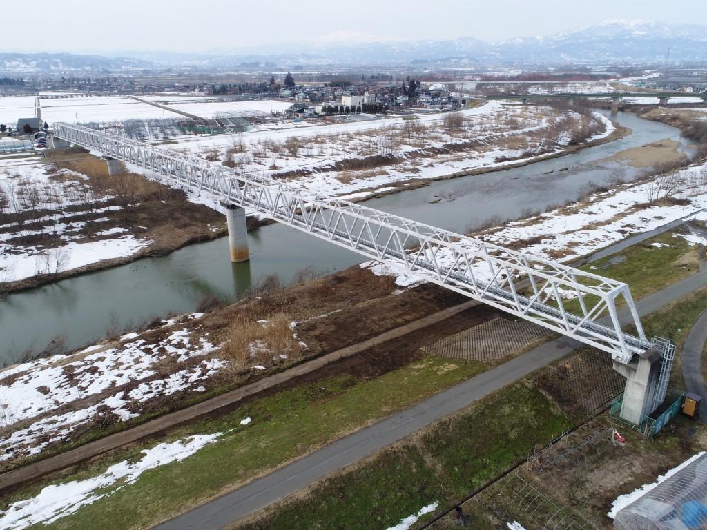 須川水管橋再塗装工事